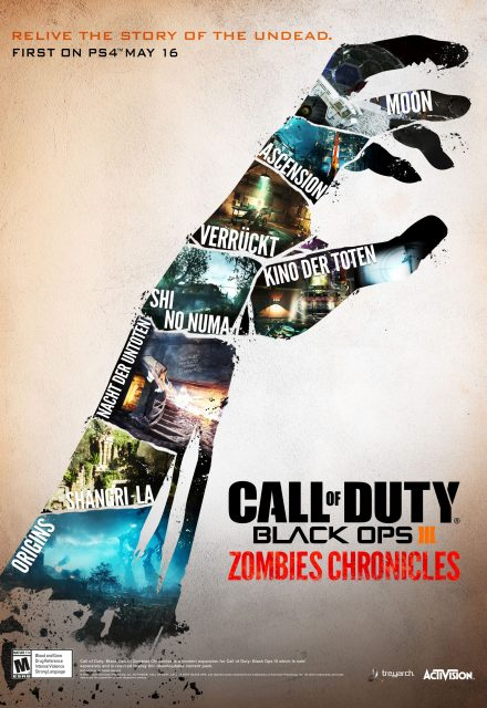 Call of Duty: Black Ops III Zombies Chronicles: orde di morti viventi a piede libero dal 16 maggio, inizialmente su PlayStation 4