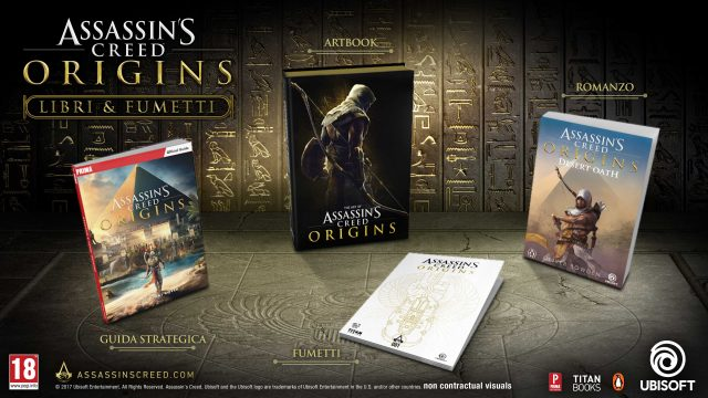 Una nuova linea editoriale espande l'universo di Assassin's Creed Origins